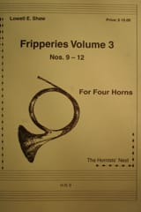 Fripperies Volume 3 N° 9-12 Lowell E. Shaw Partition laflutedepan.com