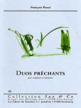Duos Prêchants François Rossé Partition Saxophone - laflutedepan