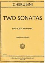Two Sonatas Luigi Cherubini Partition Cor - laflutedepan.com