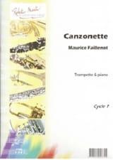 Canzonette Maurice Faillenot Partition Trompette - laflutedepan.com