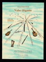 Valse Elégante Gérard Meunier Partition Trompette - laflutedepan.com