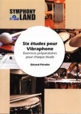 6 Etudes pour Vibraphone Gérard Pérotin Partition laflutedepan.com