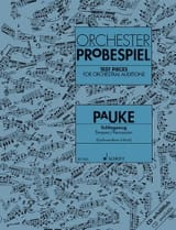 Orchester Probespiel Pauke Partition Timbales - laflutedepan.com