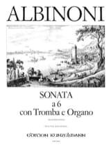 Sonata A 6 Tomaso Albinoni Partition Trompette - laflutedepan.com