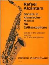 Sonate In Klassicher Manier Rafael Alcantara Partition laflutedepan