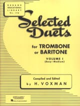 Voxman - Selected Duets for Trombone - Volume 1 - Partition - di-arezzo.fr