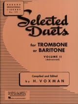 Selected Duets Volume 2 Voxman Partition Trombone - laflutedepan.com