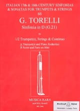 Sinfonia In D G.21 Giuseppe Torelli Partition laflutedepan.com