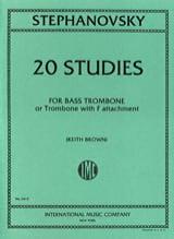 20 Studies K. Stephanovsky Partition Trombone - laflutedepan.com