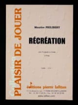 Récréation - Maurice Philibert - Partition - laflutedepan.com