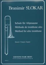 Méthode de Trombone Alto Branimir Slokar Partition laflutedepan.com