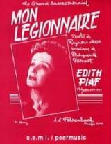 Mon légionnaire Edith Piaf Partition laflutedepan.com