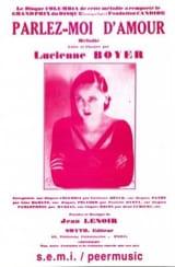 Parlez Moi D' Amour Lucienne Boyer Partition laflutedepan.com