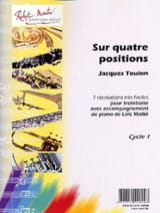 Sur Quatre Positions Jacques Toulon Partition laflutedepan.com