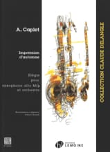 Impressions D'automne André Caplet Partition laflutedepan.com