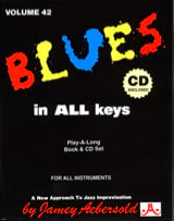 Volume 42 - Blues In All Keys METHODE AEBERSOLD laflutedepan.com