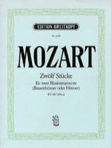 MOZART - Zwölf Stücke pour 2 cors KV 487 496a) - Partition - di-arezzo.fr