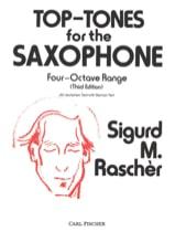 Top-Tones Sigurd M. Raschèr Partition Saxophone - laflutedepan.com