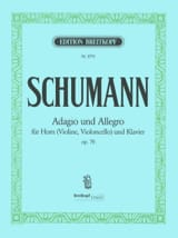 Robert Schumann - Adagio and Allegro Opus 70 - Partition - di-arezzo.fr