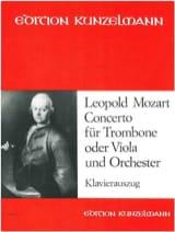 Concerto Leopold Mozart Partition Trombone - laflutedepan.com