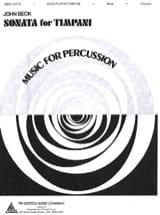 Sonata For Timpani John Beck Partition Timbales - laflutedepan.com