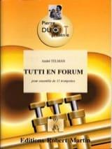 André Telman - Tutti En Forum - Partition - di-arezzo.fr