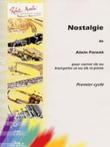 Alain Parent - Nostalgie - Partition - di-arezzo.fr
