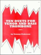 Ten 10 Duets For Tenor & Bass Trombone Tommy Pederson laflutedepan.com