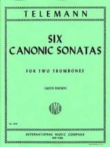 Georg Ph Telemann - 6 Canonic Sonatas - Partition - di-arezzo.fr