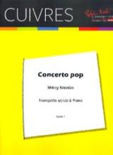 Mickey Nicolas - Concerto Pop - Partition - di-arezzo.fr