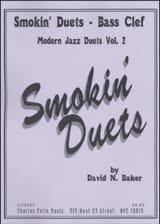 Smokin Duets Volume 2 - Bass Clef David N. Baker laflutedepan.com