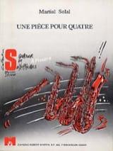 Martial Solal - Une Pièce Pour Quatre - Partition - di-arezzo.fr