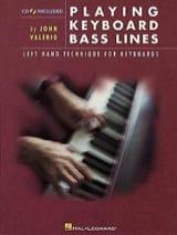 John Valerio - Playing Keyboard Bass Lines - Sheet Music - di-arezzo.com