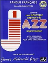 METHODE AEBERSOLD - Volume 1 - New Approach to Jazz Improvisation - Sheet Music - di-arezzo.co.uk