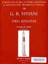 Two Sonatas Giovanni Bonaventura Viviani Partition laflutedepan.com