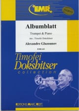 Alexander Glazounov - Albumblatt - Sheet Music - di-arezzo.co.uk