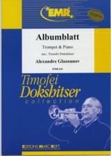Alexander Glazounov - Albumblatt - Sheet Music - di-arezzo.com