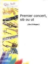 Premier Concert Denise Roger Partition Trompette - laflutedepan.com