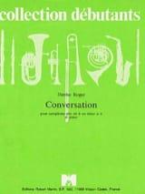Conversation Denise Roger Partition Saxophone - laflutedepan.com