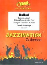 Ballad Dennis Armitage Partition Ensemble de cuivres - laflutedepan