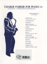 Charlie Parker - Charlie Parker For Piano Volume 3 - Partition - di-arezzo.fr