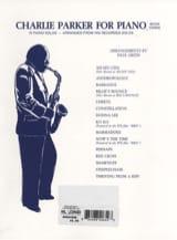 Charlie Parker For Piano Volume 3 - Charlie Parker - laflutedepan.com