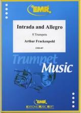 Arthur Frackenpohl - Intrada And Allegro - Partition - di-arezzo.fr