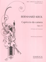 Bernhard Krol - Capriccio da camera opus 35 - Sheet Music - di-arezzo.co.uk