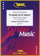 Prelude In D Minor BWV 539) BACH Partition Tuba - laflutedepan.com