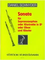 Sonata Daniel Schnyder Partition Saxophone - laflutedepan.com