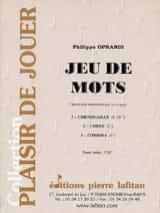 Philippe Oprandi - Gioco di parole - Partitura - di-arezzo.it