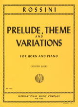 Gioacchino Rossini - Prelude Theme - Variations - Sheet Music - di-arezzo.com