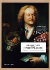Concerto N° 2 D-Dur Johann Friedrich Fasch Partition laflutedepan