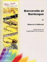 Barcarolle Et Burlesque Maurice Faillenot Partition laflutedepan.com
